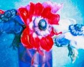 Anemones - Polaroid Painting