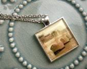 Paris Polaroid Pendant - Paris Photo Art Pendant -