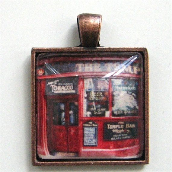 Dublin Pendant - Temple Bar Dublin - Photo Pendant - Polaroid Pendant