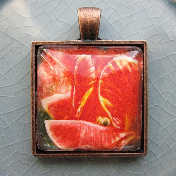 Red Tulip Pendant - Photo Pendant - Polaroid Pendant