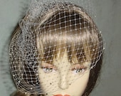 Small Birdcage Blusher Wedding Veil  with Scattered Pearls 15 Colors Available