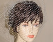 Birdcage Blusher Wedding Veil French  Veiling  Made to Order
