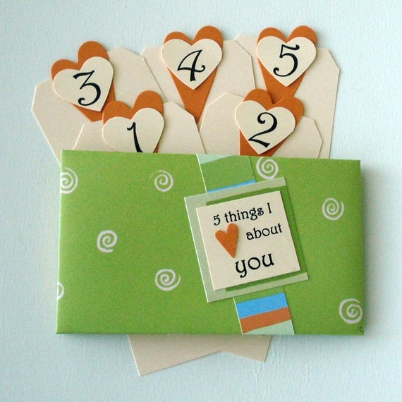 5 Things I Love About You Tag Book - Lime and Pumpkin