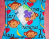 I Spy Bag - Monkeys Love Bananas with Sewn on List and Picture Card