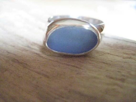 Ocean...blue sea glass ring