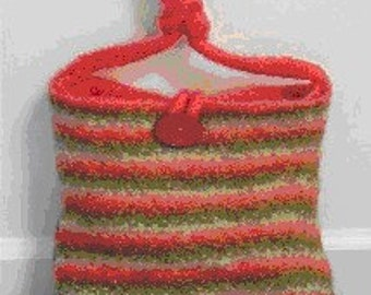 The Inside Out Hand Knit Felted Purse Pattern PDF