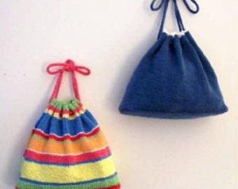 Summer Time Fun Hand Knit Bag Pattern PDF