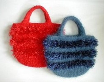 The Super Shag Hand Knit Felted Purse Pattern PDF