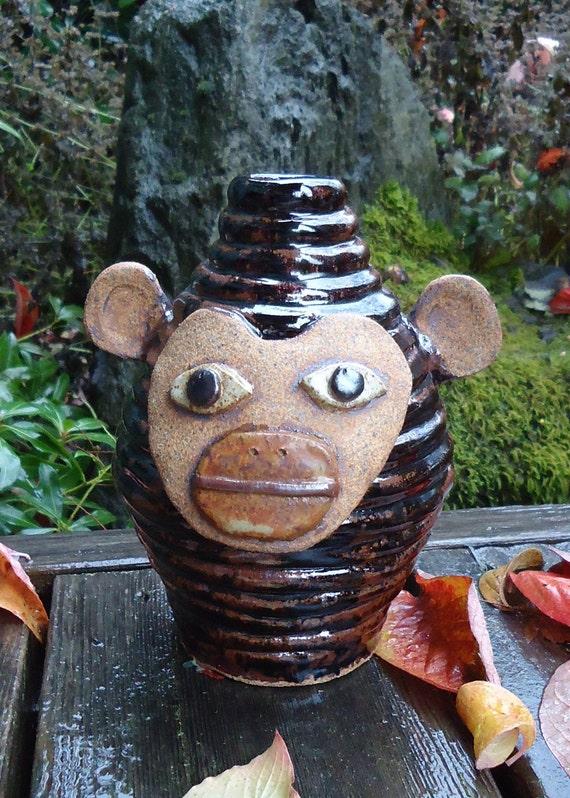Tenmuko Monkey Face Jug Growler with handle