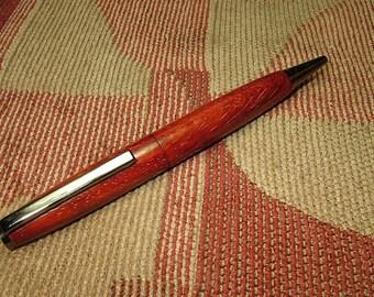 Padauk Slimline Pen with Gunmetal Trim No416