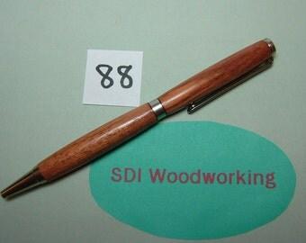 Handcrafted Bubinga Wooden Slimline Twist Pen