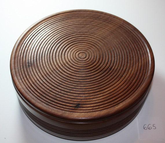 Handmade Black Walnut Wooden Box with lid - No. 665