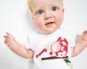 Baby Girl Shirt - Bird - Amy Butler Belle Coriander Fabric