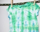 Baby T Shirt in Blue and Green