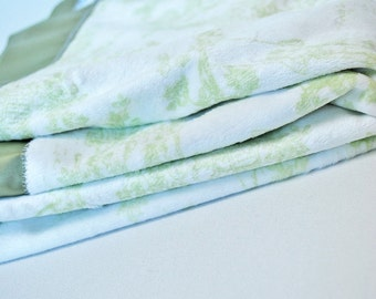 SALE Soft Sage Green Toile Unisex Luxury Baby Blanket by claireandjanae on Etsy