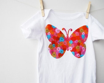 Claire loves Butterflies Applique Onesis  with Kaffe Fasset fabric