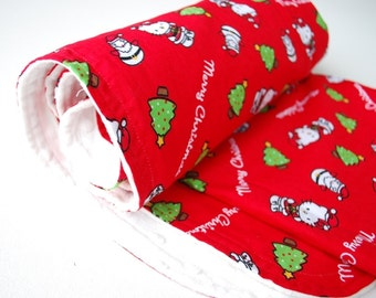 Christmas Hello Kitty Baby Blanket - Red Minky Blanket