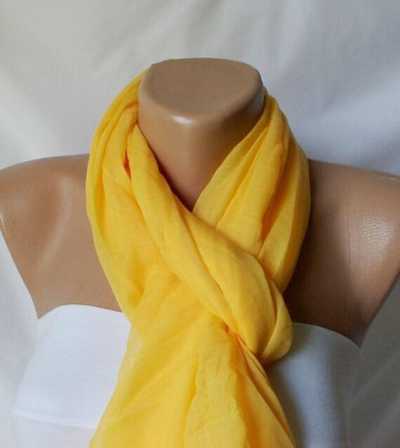 Yellow Scarf - Cotton Scarf - Sun Scarf - Spring Scarf