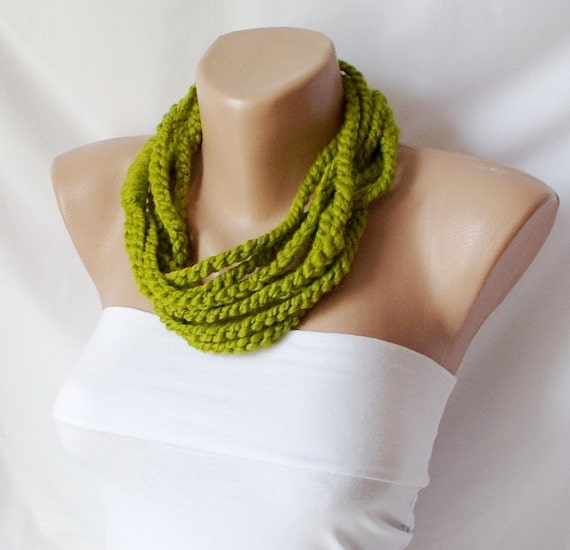Lemon Grass chunky chain, loop scarf (Last Edition)