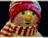 "Tutorial creating a paperclay Snowman, ""Frosty Frances"""