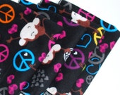 FREE OFFER Child Reusable Cloth Napkins / Wipes- Set of 4- Peace Love Monkey