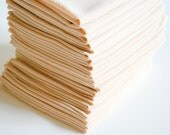 Free Offer - Natural ORGANIC Un-Bleached HEAVY DUTY Cotton Napkins / Paperless Towels - Set of 12
