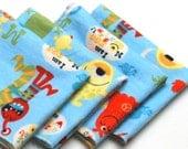 FREE OFFER Child Reusable Cloth Napkins / Wipes- Set of 4- I am Monster