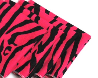 FREE OFFER Child Reusable Cloth Napkins / Wipes - Set of 4- Pink Zebra