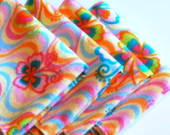 FREE OFFER Child Reusable Cloth Napkins / Wipes- Set of 4- Groovy Butterflies