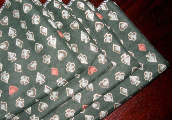 FREE OFFER Child Reusable Cloth Napkins / Wipes- Set of 4- Card Game
