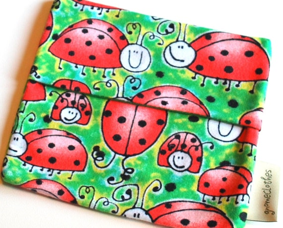 FREE OFFER- Reusable Cotton Cloth Sandwich Baggie - Ladybugs