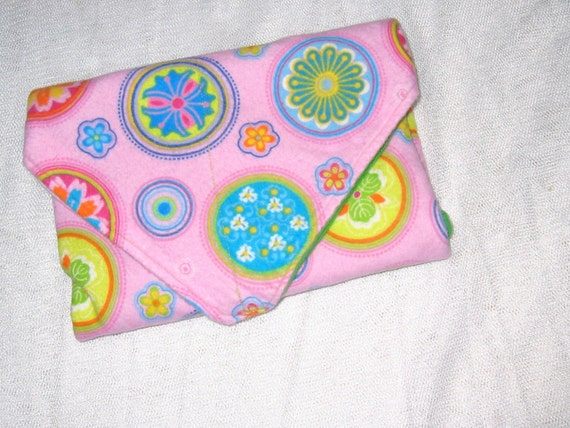 Reusable Cloth Sandwich Wrap \/ Mat plus 2 napkins- Funky Doodles