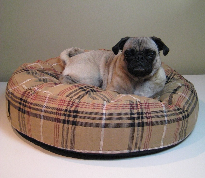Cotton Duck Dog Bed