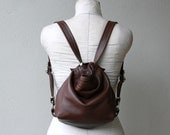 HOBO PACK 'TINY' -  leather backpack - two way bag  - choose from fifteen leathers