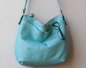 XL CROSSBODY BOHO with outside pockets - leather messenger bag - choice of leather