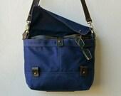 "R&T FIELD MESSENGER 1940 - 13"" laptop pocket - waxed canvas laptop bag  - ten pockets - unisex"