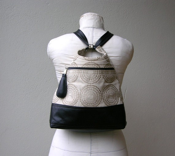 MINI SIZE IN CHOICE OF FABRIC AND LEATHER with ADJUSTABLE LEATHER STRAPS INCLUDED