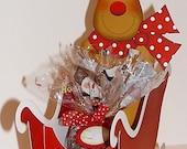 Reindeer and Sleigh Cookie or Treat Box Printable