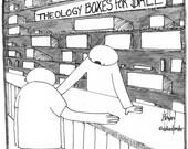 theological boxes CARTOON drawing ORIGINAL
