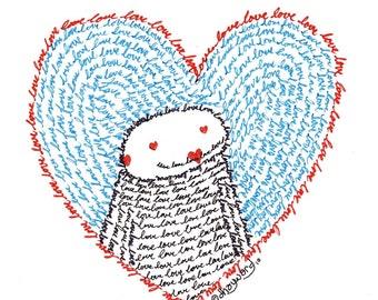 love love love FINE ART print