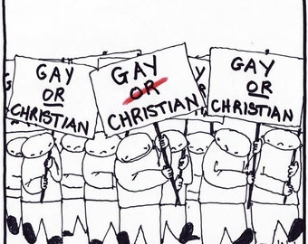 gay OR christian FINE ART print