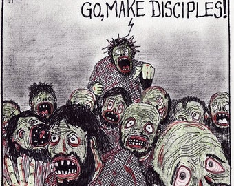 ZOMBIE DISCIPLES cartoon