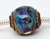 Lampwork Multicolor Big Hole Bead, SRA