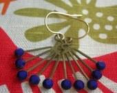 Atomic Starburst Earrings in Cobalt Blue