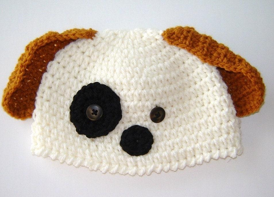 hand made crochet puppy dog floppy ear by sugarsandwichdesign
