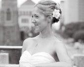 Reserved MidoriDesigns Signature Hawaiian Gardenia Bridal Hair Pin in Ivory White