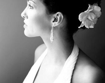 MidoriDesigns Signature Hawaiian Gardenia Bridal Hair Pin in White