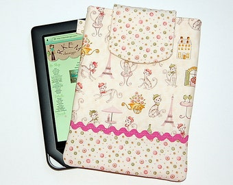 Paris Cats (Rose) - iPad Mini / Kindle / Nook / Nexus 7 Padded Cover