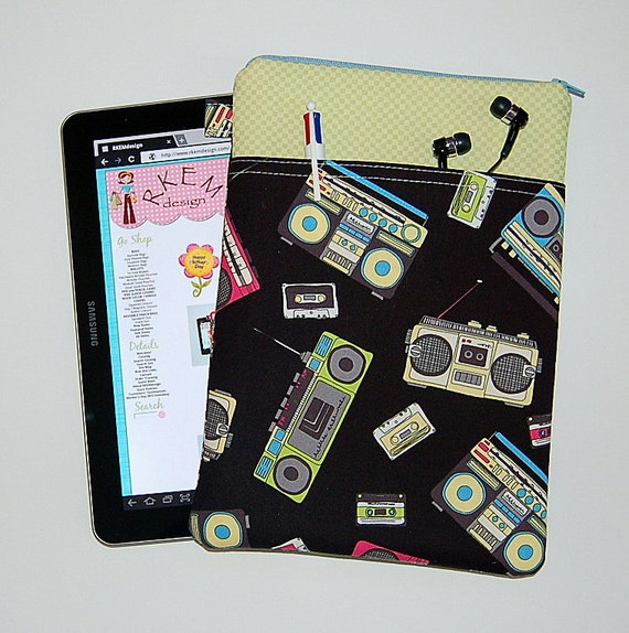 LAST ONE Boombox -  Samsung Galaxy Tab 10 Padded Sleeve Case Cover