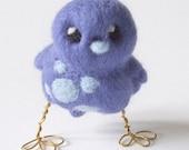 Tweet Needle Felted Speckled Bluebird